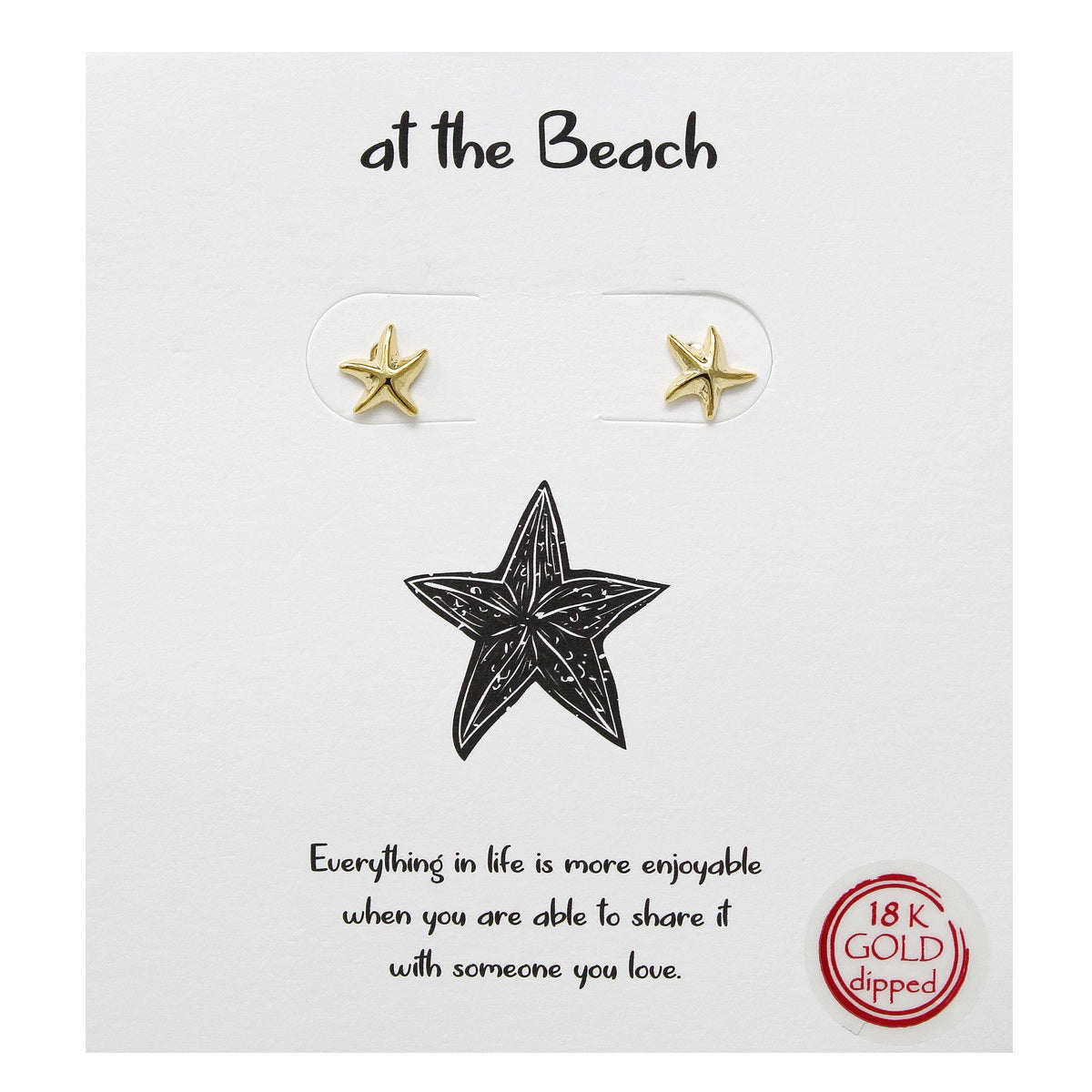 Tell Your Story: At The Beach Starfish Stud Earrings