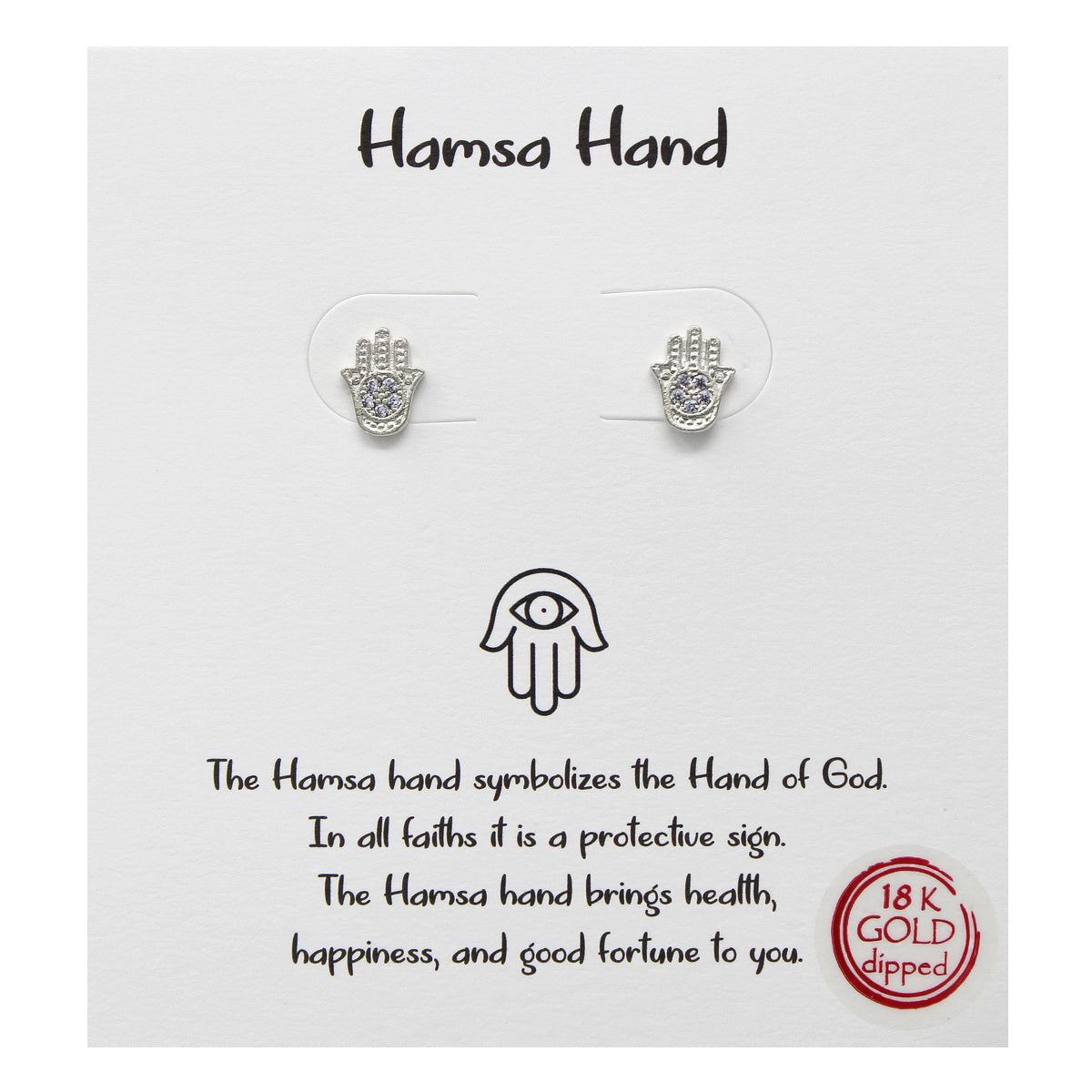Tell Your Story: Hamsa Hand Stud Earrings