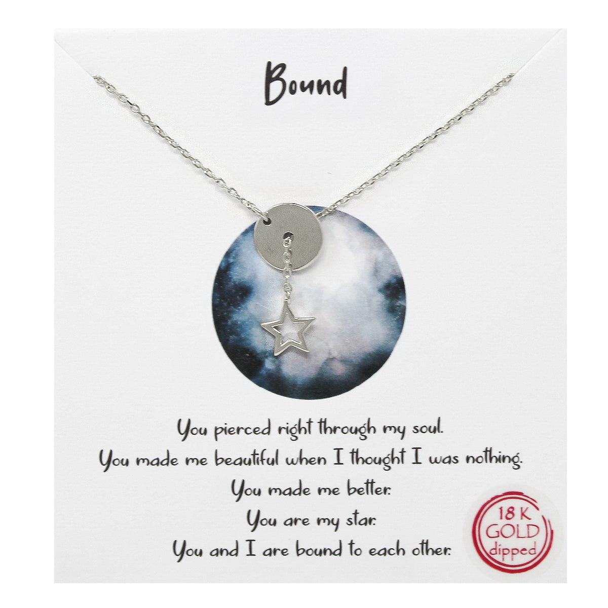 Tell Your Story: Bound Pendant Simple Chain Necklace