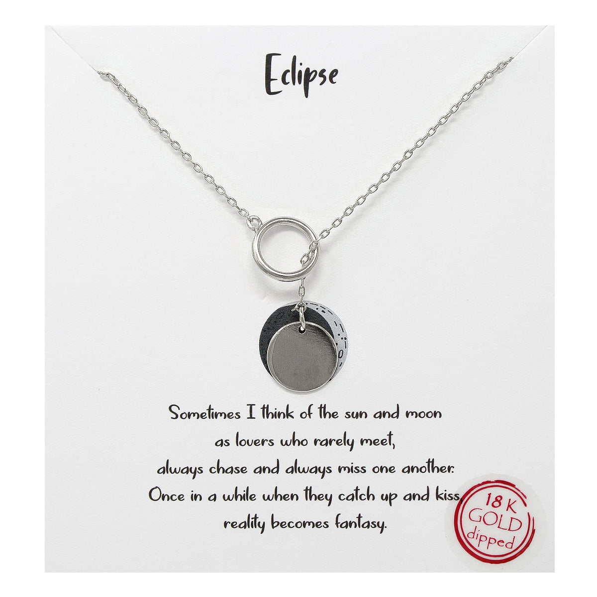 Tell Your Story: Eclipse Pendant Short Necklace
