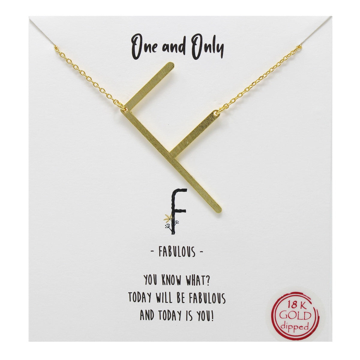 Tell Your Story: F Initial Simple Chain Short Necklace