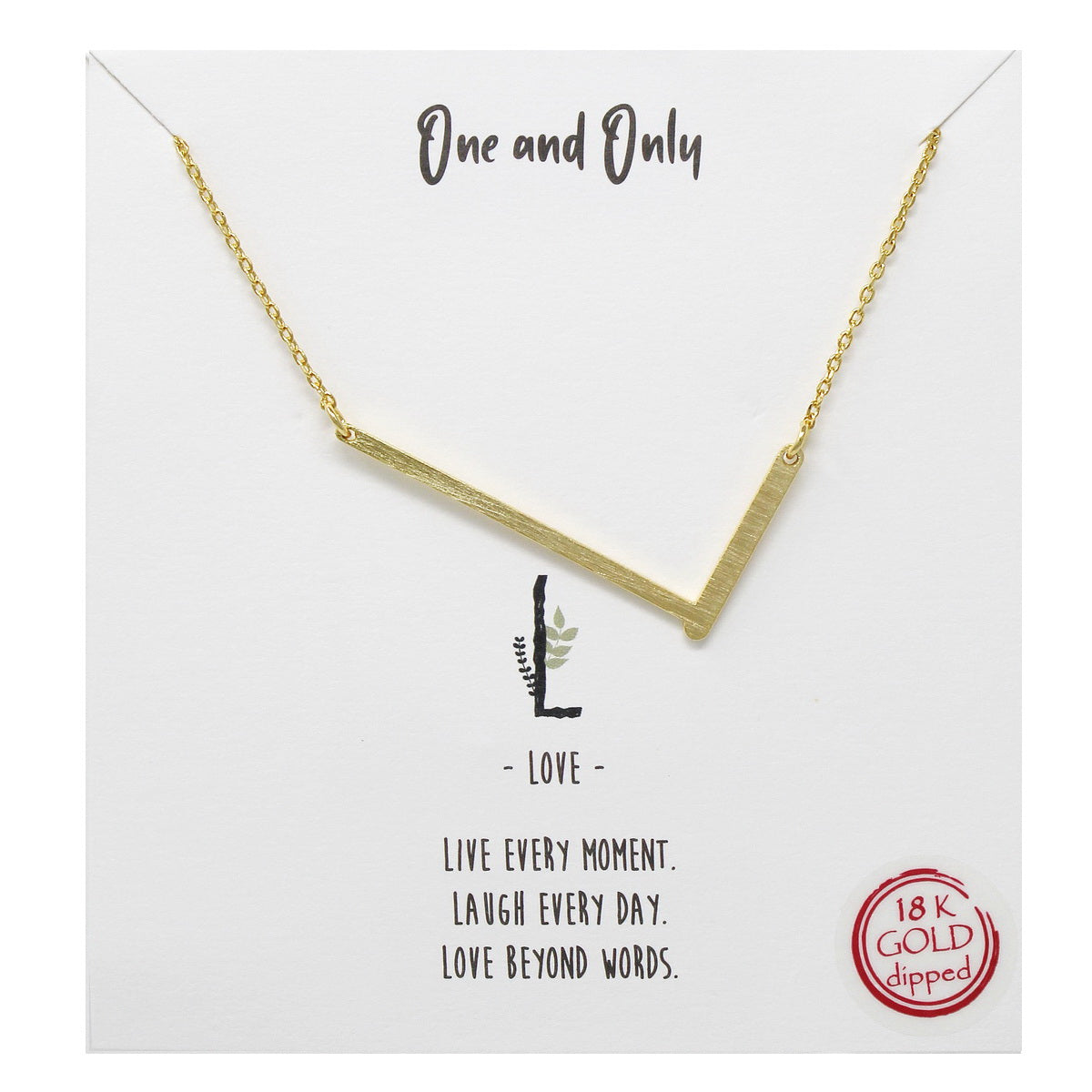 Tell Your Story: L Initial Simple Chain Short Necklace