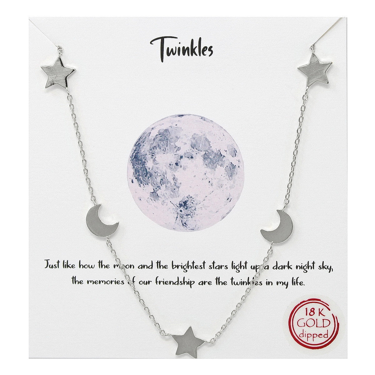 Tell Your Story: Twinkles Simple Chain Necklace