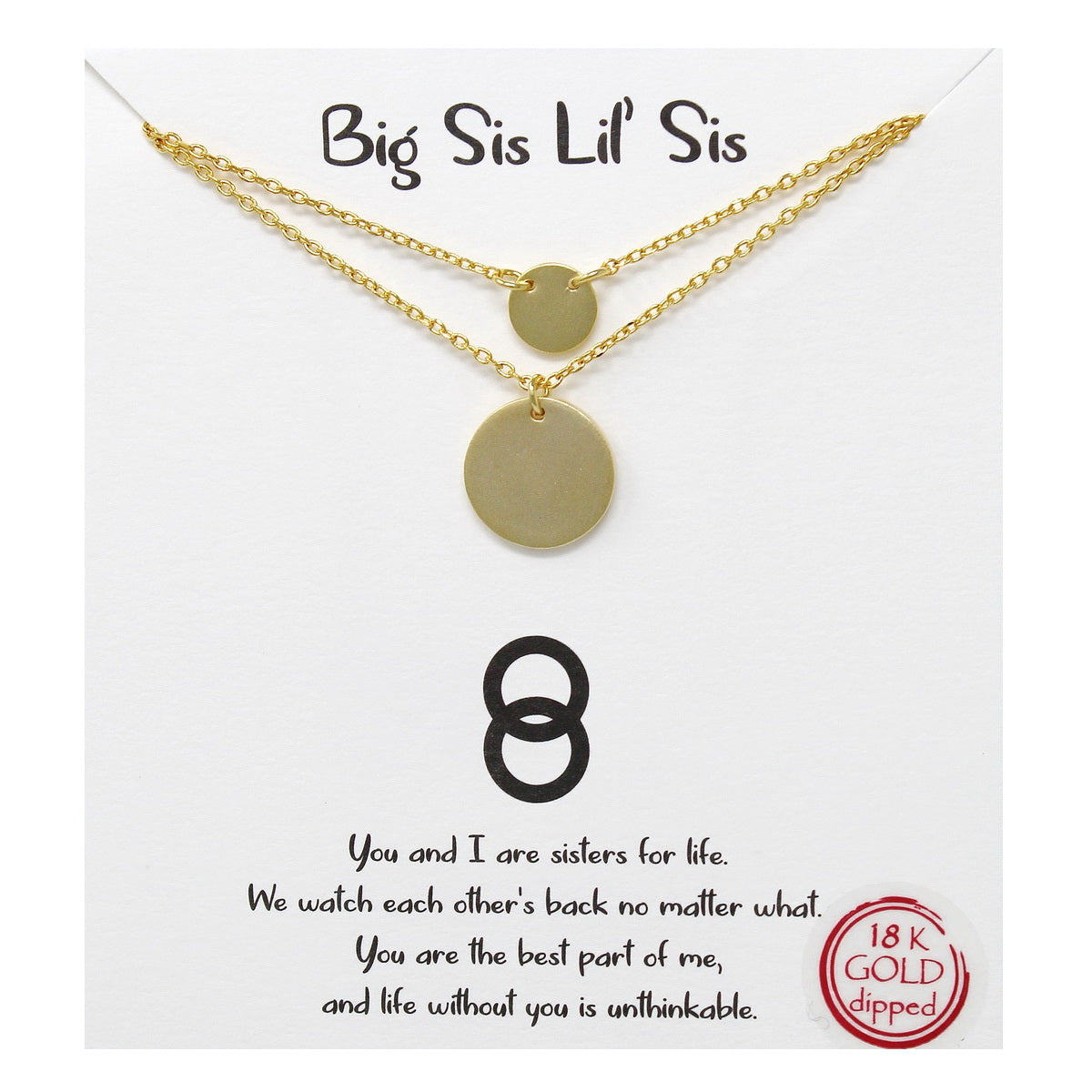Tell Your Story: Big Sis Lil' Sis Layered Short Necklace