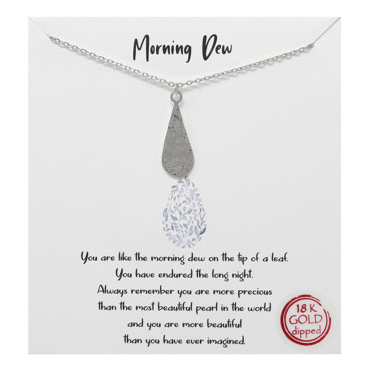 Tell Your Story: Morning Dew Simple Pendant Chain Necklace