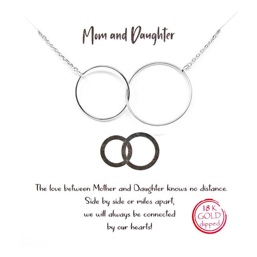 Tell Your Story: Mom And Daughter Pendant Simple Chain Short Necklace