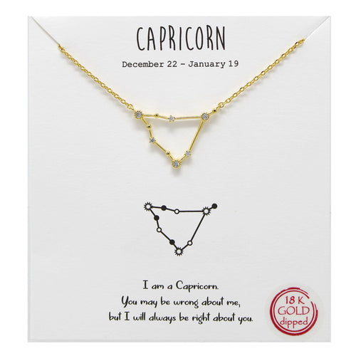Tell Your Story: Capricorn CZ Pave Zodiac Necklace