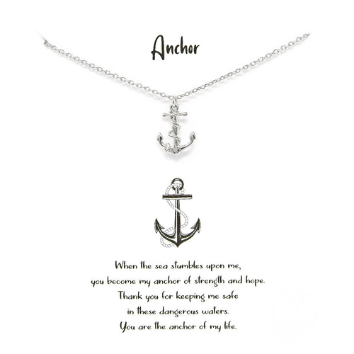 Tell Your Story: Anchor Pendant Simple Chain Necklace