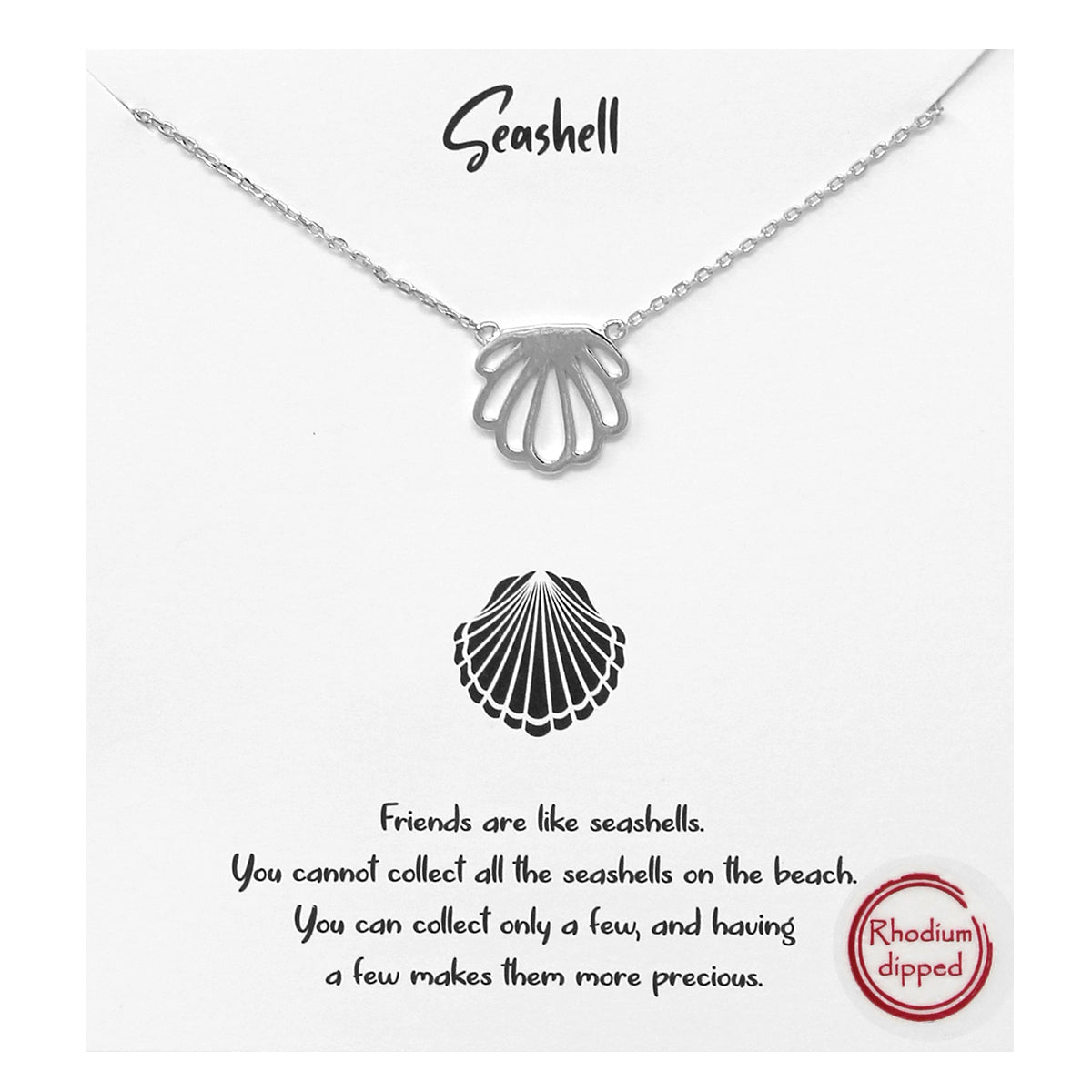 Tell Your Story: Seashell Metal Pendant Simple Chain Short Necklace