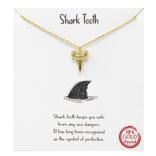 Tell Your Story: Shark Tooth Pendant Simple Chain Necklace