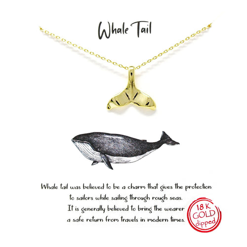 Tell Your Story: Whale Tale Pendant Simple Chain Necklace