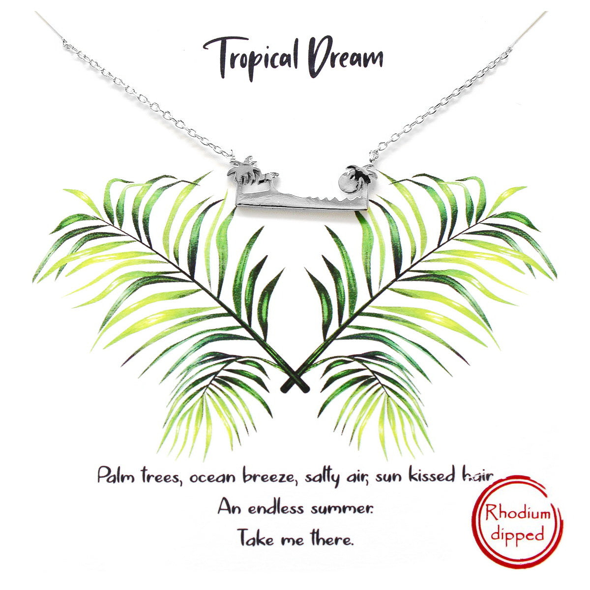 Tell Your Story: TROPICAL DREAM Simple Chain Necklace