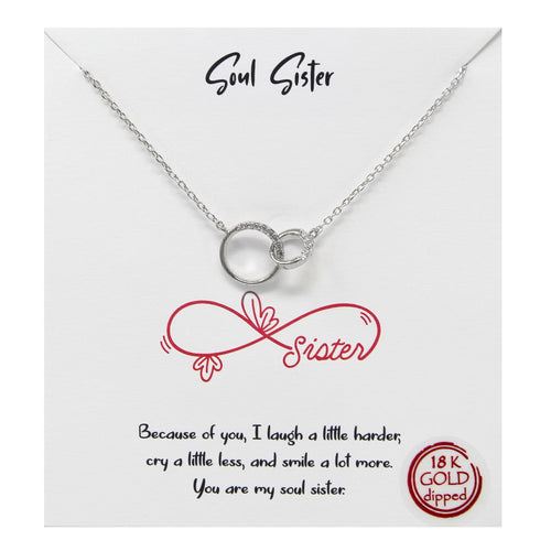 Tell Your Story: Soul Sister Pendant Simple Chain Necklace