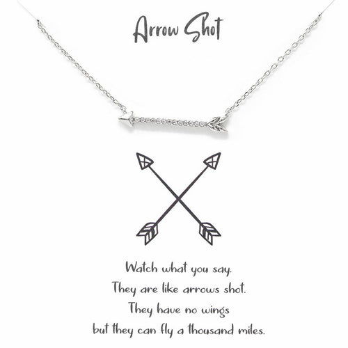 Tell Your Story:Arrow Shot Pendant Simple Chain Necklace