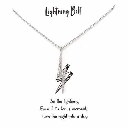 Tell Your Story: Lightning Bolt Pendant Simple Chain Necklace