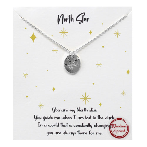 Tell Your Story: CZ Pave Star Disc Pendant Simple Chain Short Necklace
