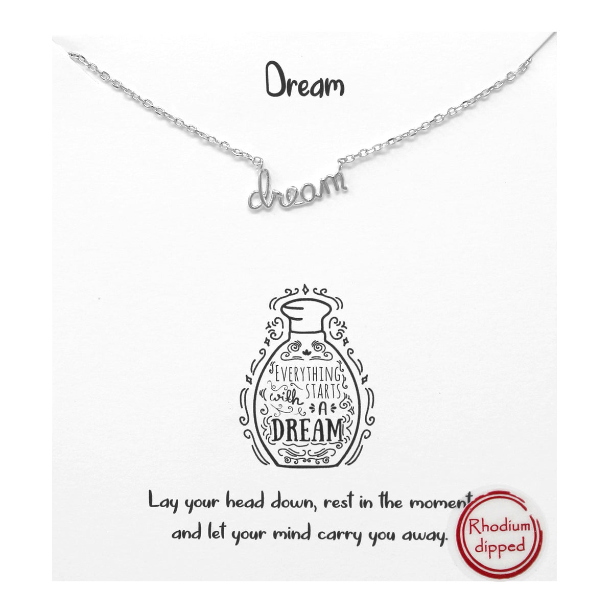 Tell Your Story:  Dream Pendant Simple Chain Short Necklace