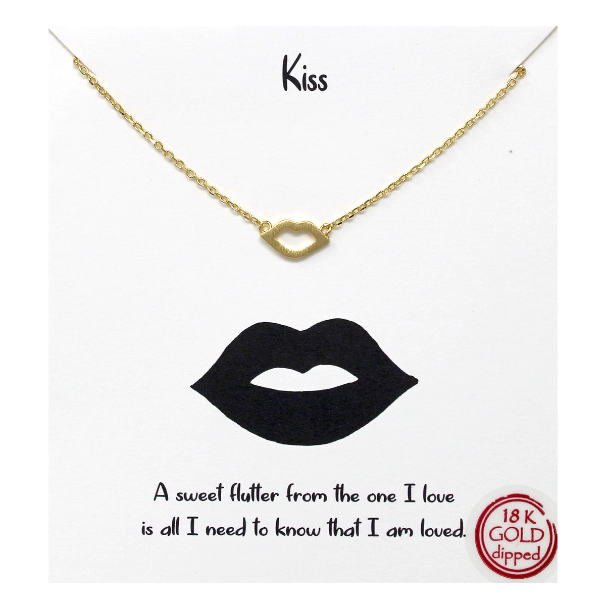 Tell Your Story: Kiss Lip Pendant Simple Chain Short Necklace