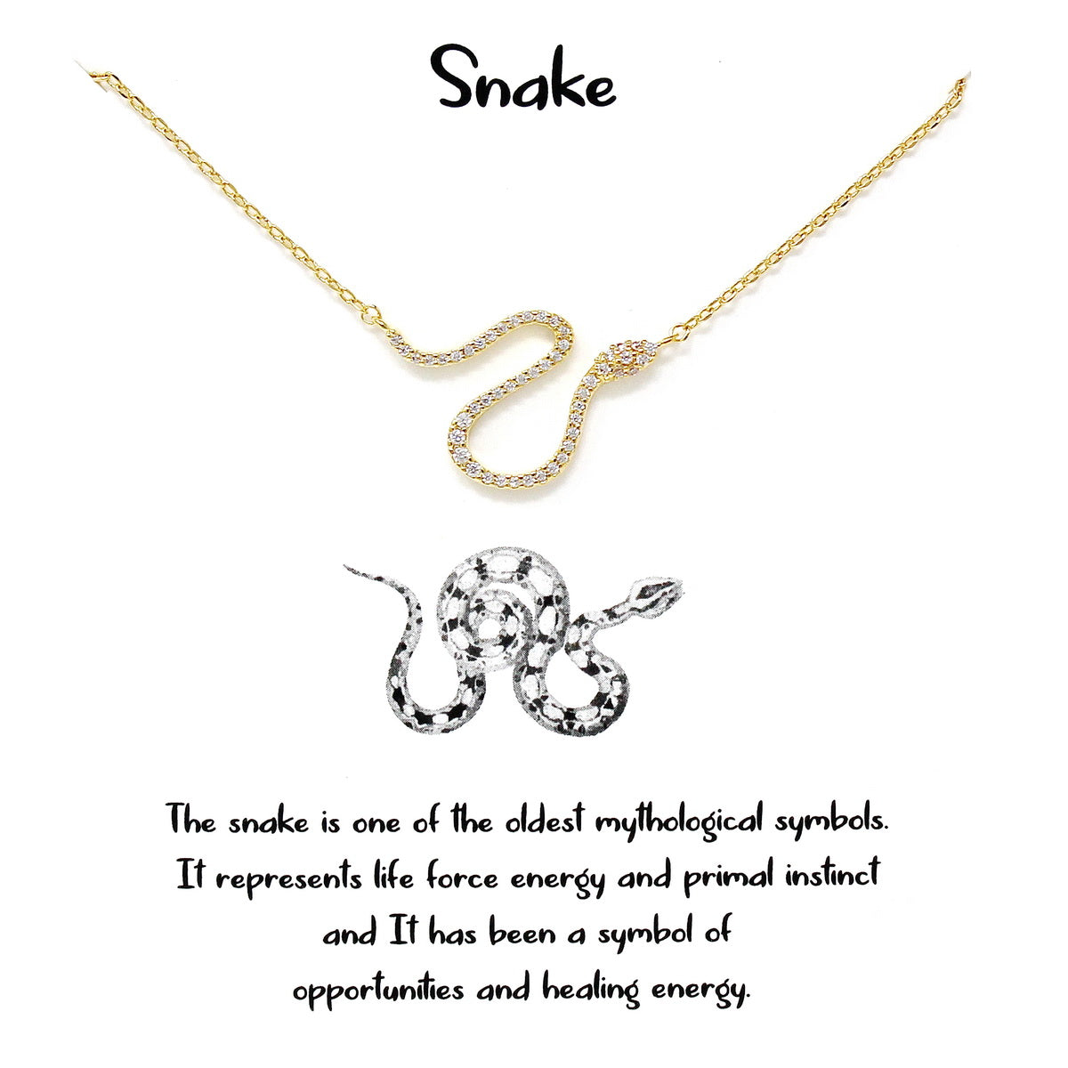 Tell Your Story: SNAKE Pendant Simple Chain Necklace