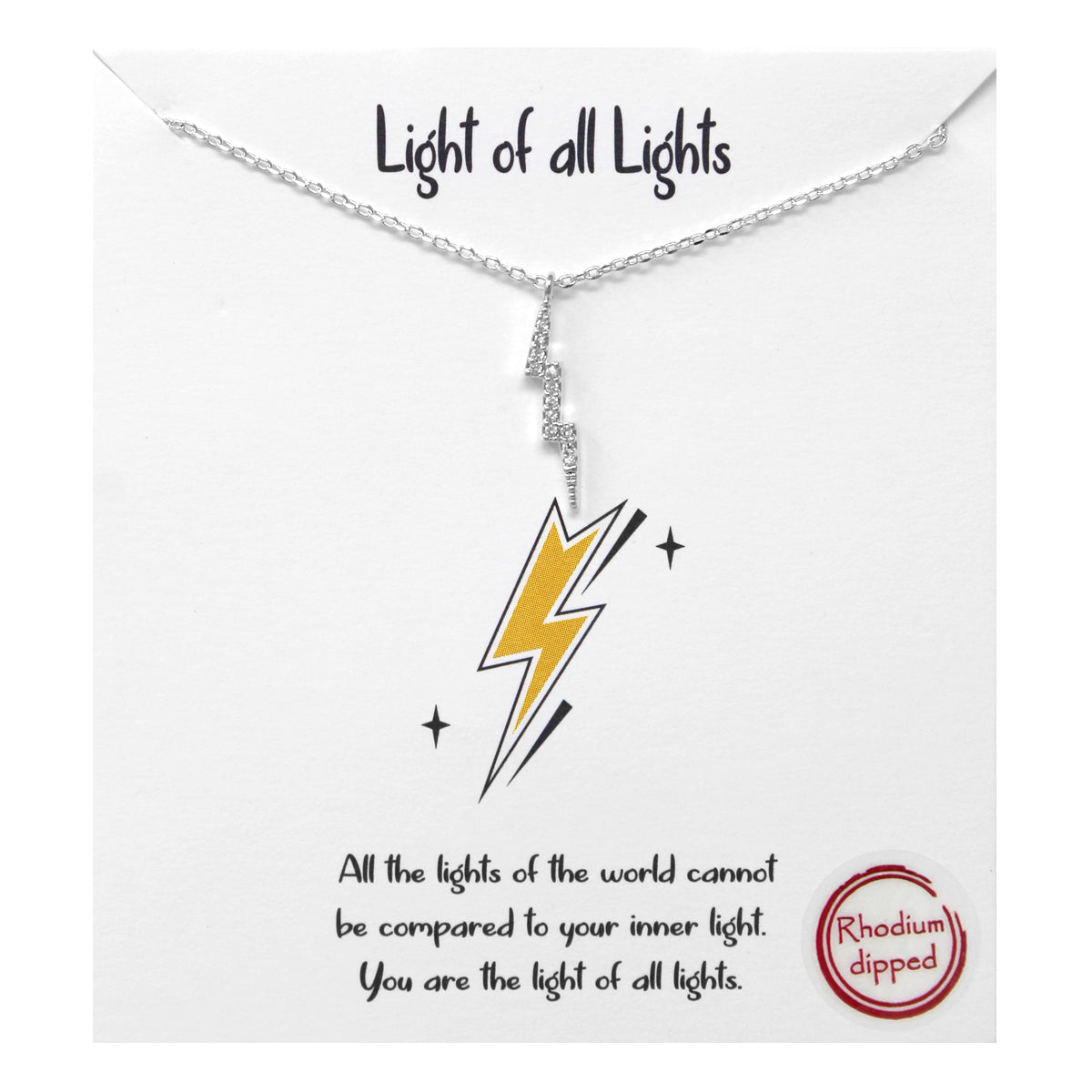 Tell Your Story: Light Of All Lights CZ Pave Pendant Simple Chain Necklace