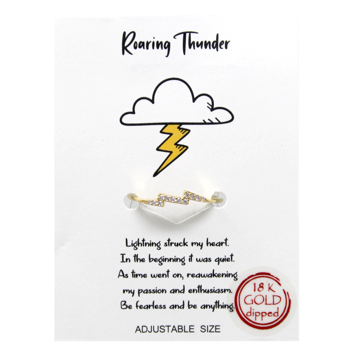 Tell Your Story: Roaring Thunder CZ Pave Adjustable Ring