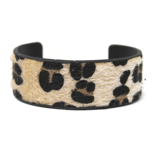 Animal Print Faux Leather Cuff Bracelet