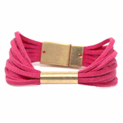 Faux Leather Multi Strand Magnetic Bracelet