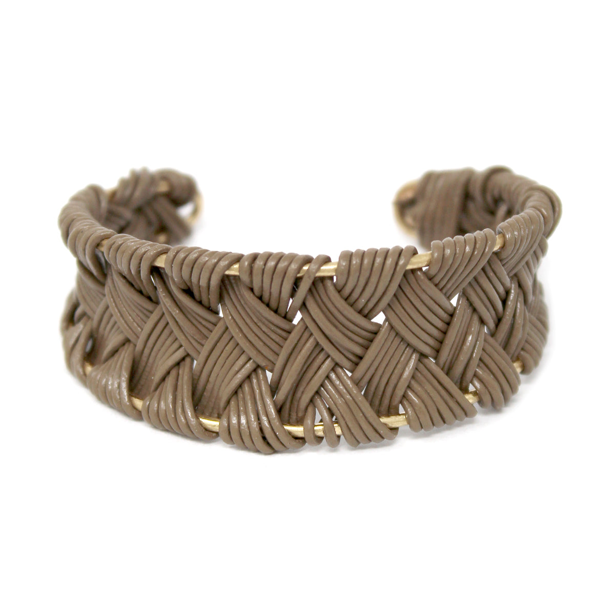 Faux Leather Cord Braided Cuff Bracelet