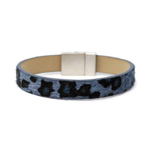 Animal Print Faux Fur Magnetic Bracelet