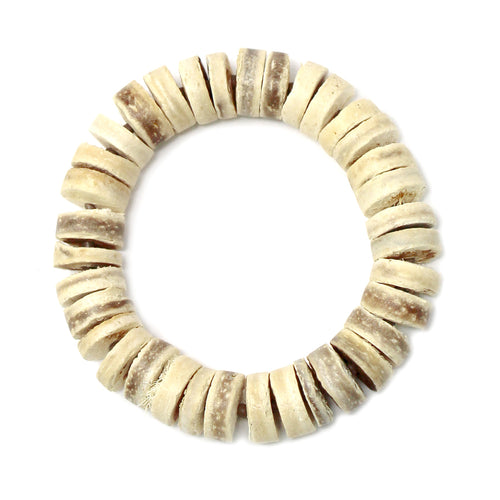Cork Disc Beaded Stretch Bracelet