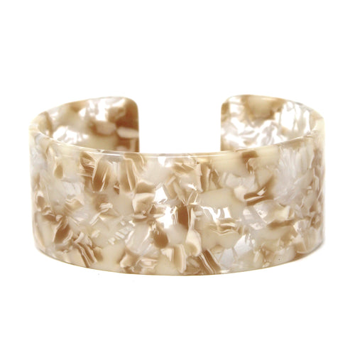 Textured Acetate Wide Cuff Bracelet
