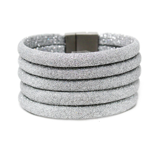 Glitter Dusted Multi Strand Magnetic Bracelet