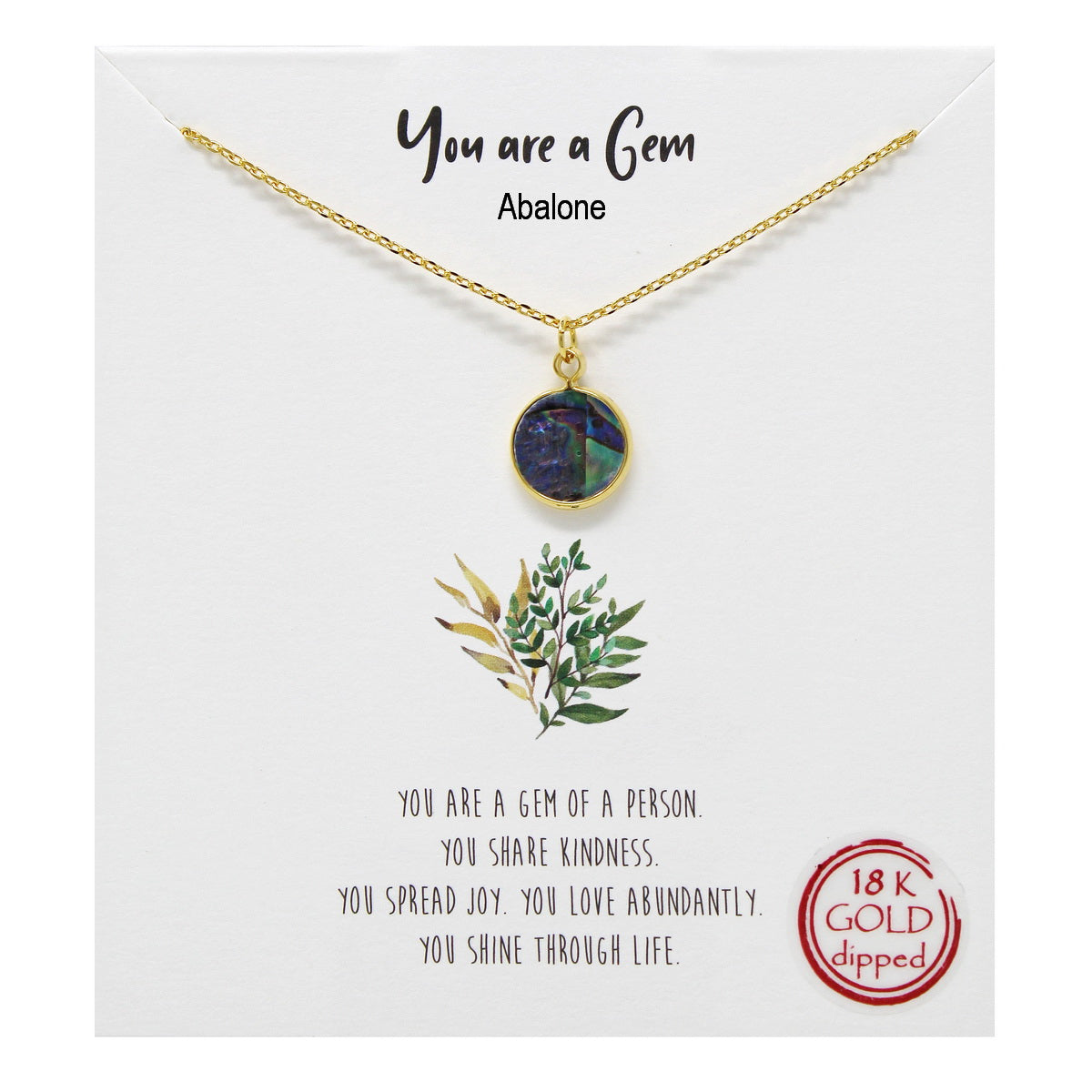 Tell Your Story: You Are a Gem Pendant Simple Chain Necklace
