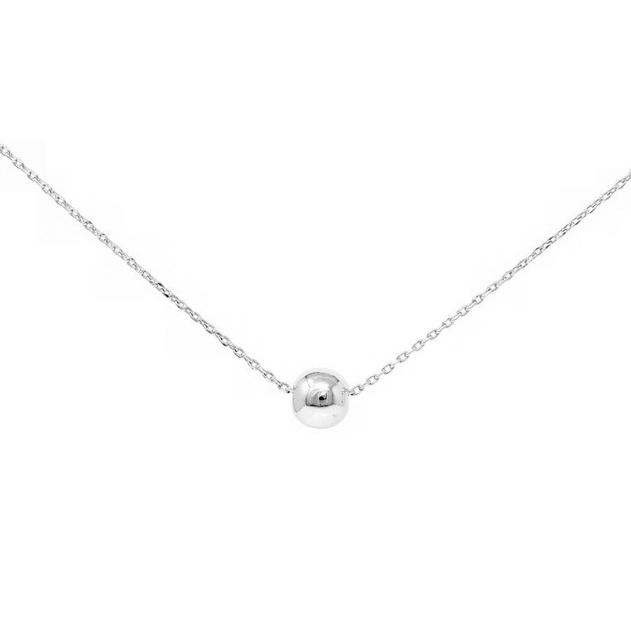 Sliding Ball Charm Collar Chain Necklace