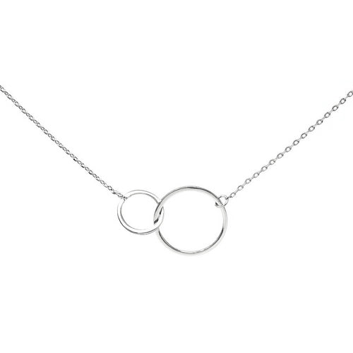 Double Hoop Charm Collar Chain Necklace