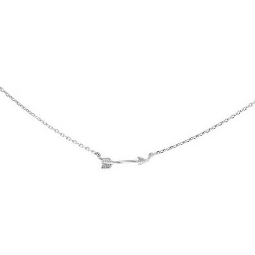 Mini Arrow Charm Collar Chain Necklace