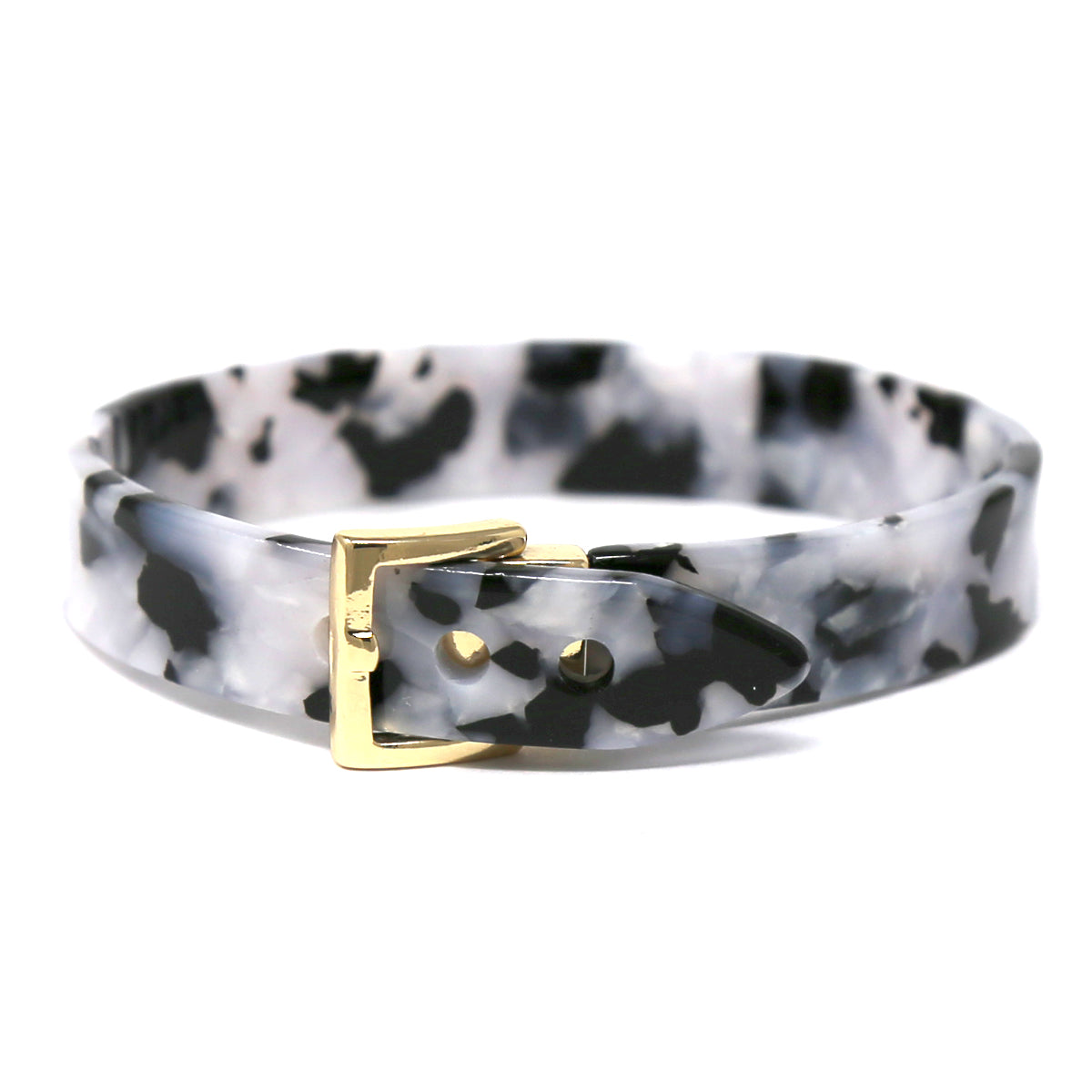 Belt Shape Acetate Bangle Bracelet
