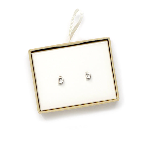 D Initial Stud Earrings