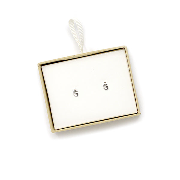 G Initial Stud Earrings