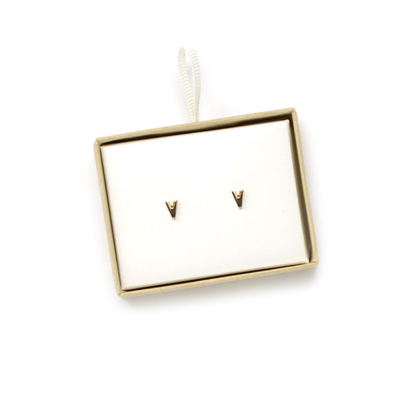 V Initial Stud Earrings