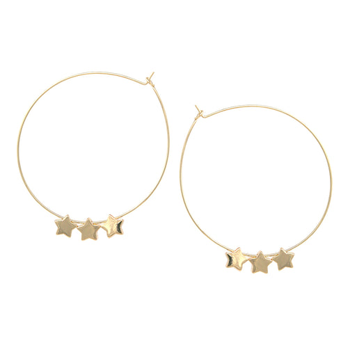 Mini Metal Star Hoop Earrings