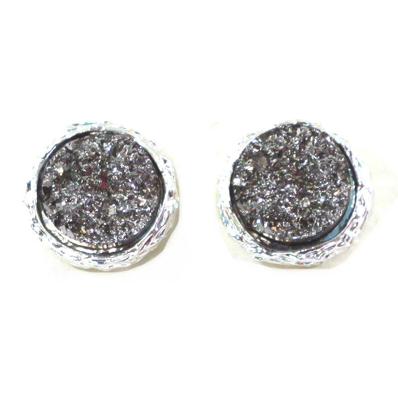 New Color Added - Mini Druzy Studs Earrings