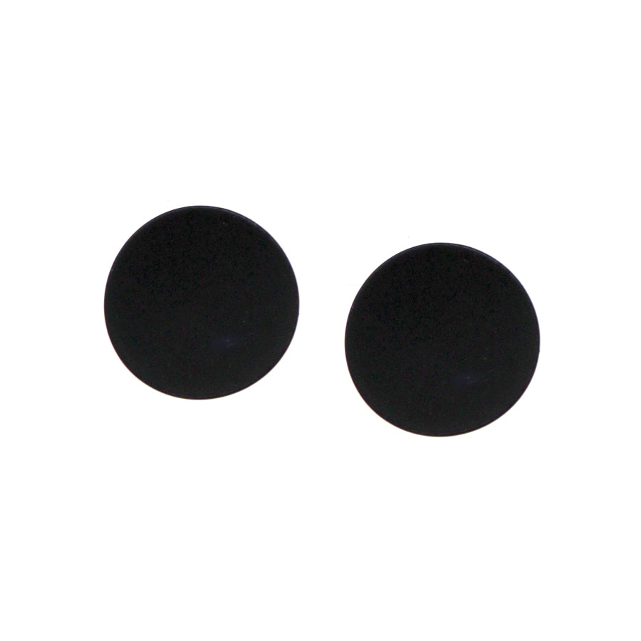 Matte Color Coated Curved Disc Stud Earrings