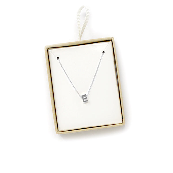 E Initial Chain Necklace