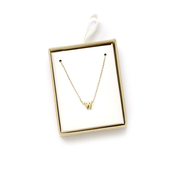 W Initial Chain Necklace