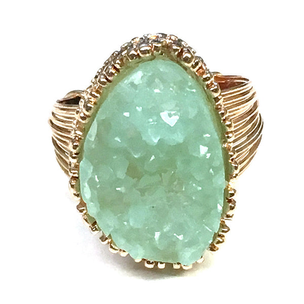 New Color Added - Druzy Stone Ring