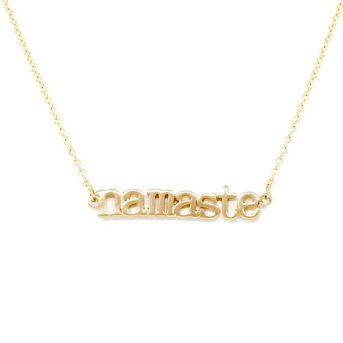 NAMASTE Message Short Chain Necklace