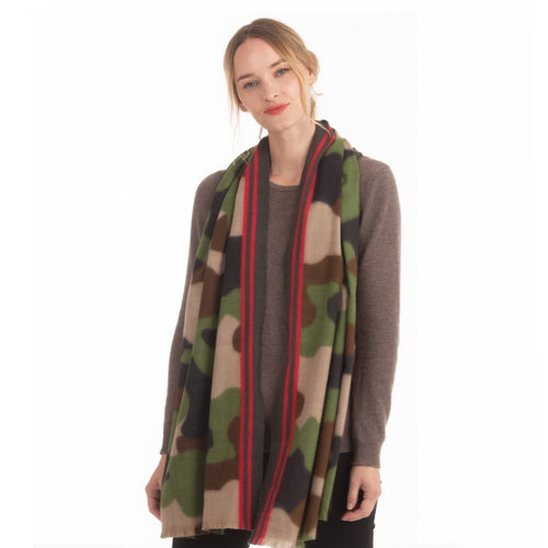 Camouflage Print Soft Texture Oblong Scarf