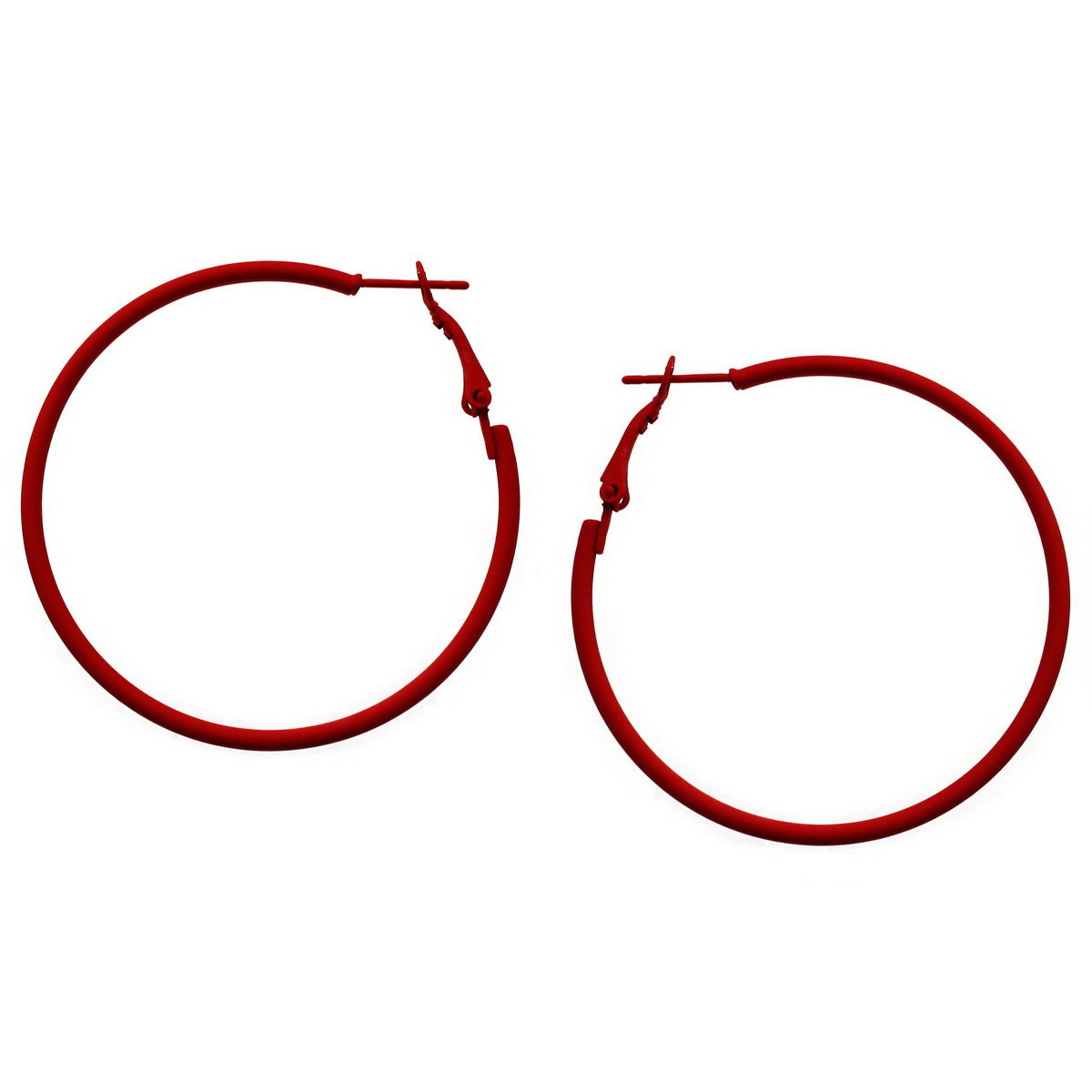 Color Coated Basic Hoop Earrings (50 mm)