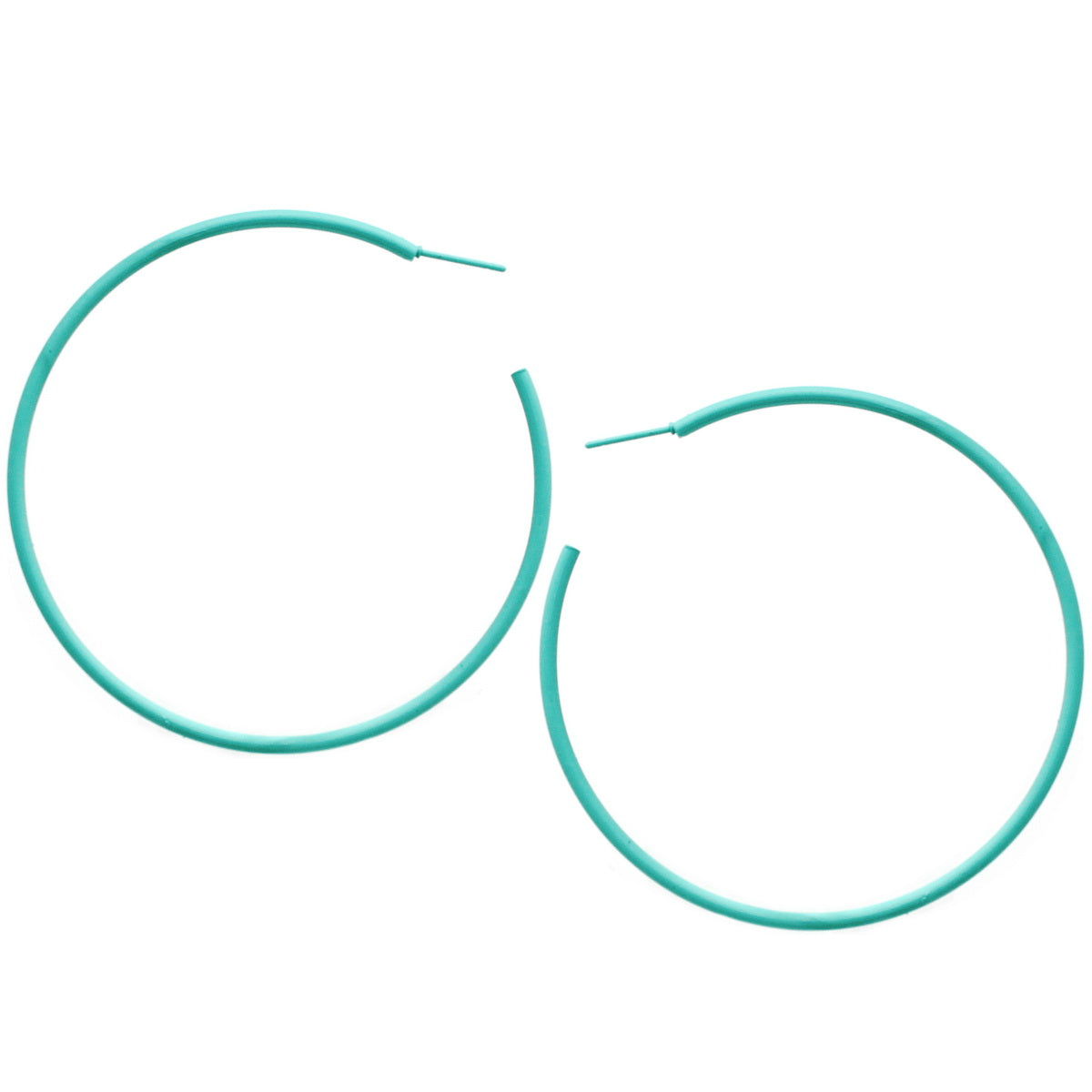 Color Coated Basic Hoop Earrings (70 mm)